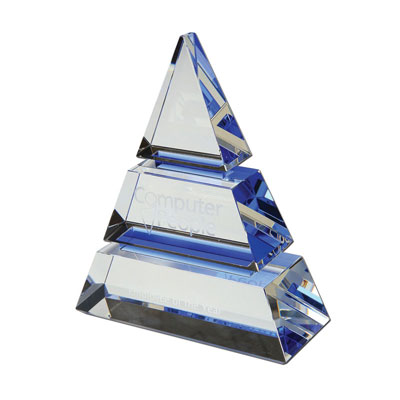 Image of 15cm Optical Crystal Luxor Award