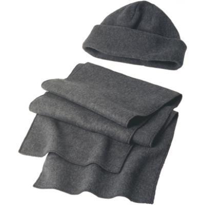 Image of Fleece cap and scarf