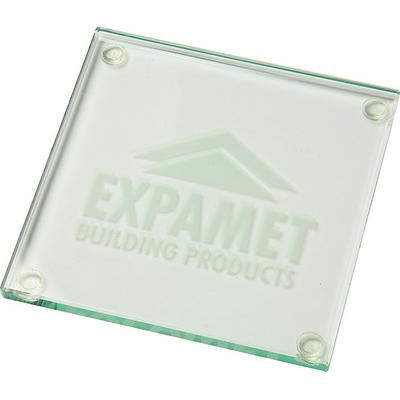Image of 10cm Jade Glass Square Coaster