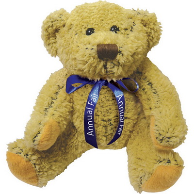 Image of 8 inch Korky Bear and Neck Bow