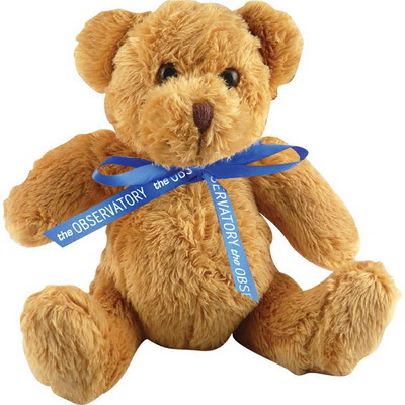 Image of 5 inch Robbie Bear and Neck Bow