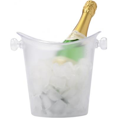 Image of Frosted plastic cooler/ice bucket.