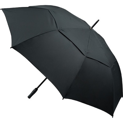 Image of Automatic Opening Vented Golf Umbrella - Black