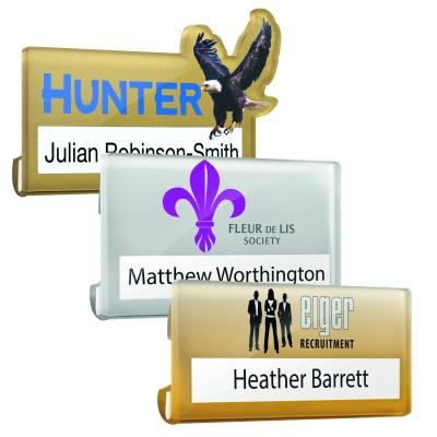 Image of Clear Acrylic Reusable Name Badges