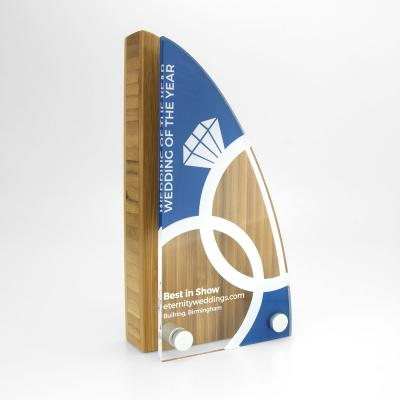 Image of Shaped Bamboo Award with Acrylic Front