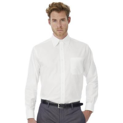 Image of B&C Men's Oxford Long Sleeve Shirt