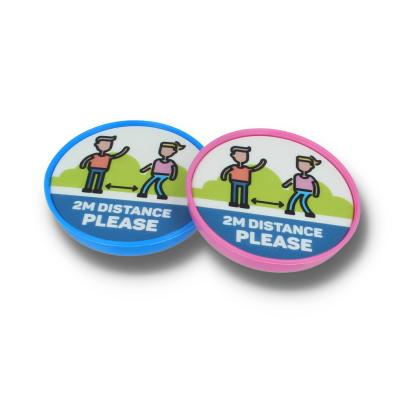 Image of SOCIAL DISTANCING CHILDS SAFETY POP BADGE